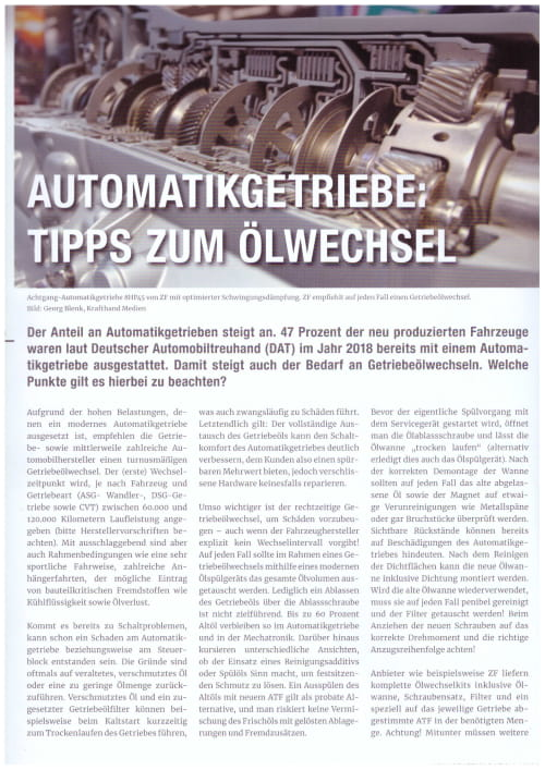Automatikgetriebe Tipps zum Ölwechsel Seite 1