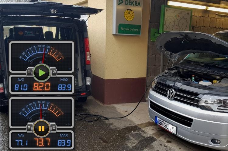 Carbon Cleaning Erfahrungen Geräuschmessung Motor vorher und nacher
